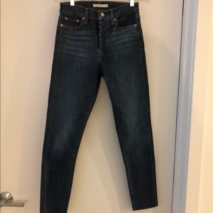 Levi's High Rise Wedgie Fit Skinny Jeans